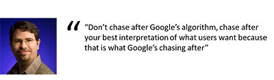 Matt Cutts talks what google wants